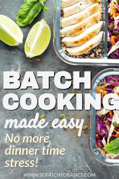 Batch cooking made easy - no more dinner time stress