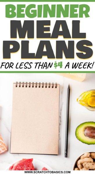 Use a meal planning service for beginner meal plans for less than $4 a week