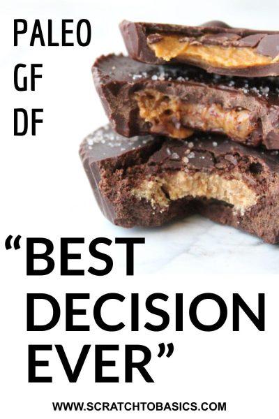 Dark chocolate almond or peanut butter cups