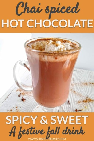 chai spiced hot chocolate festive fall drink
