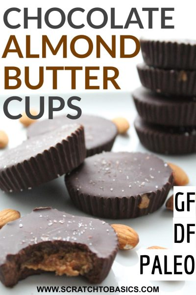 Dark chocolate almond or peanut butter cups