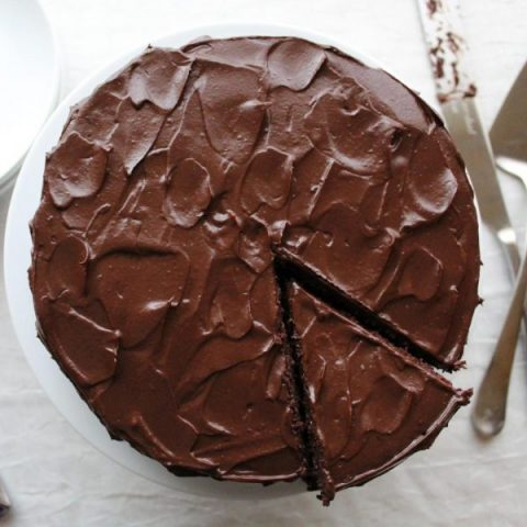 Dangerously Dark Chocolate Cake (GF + DF)