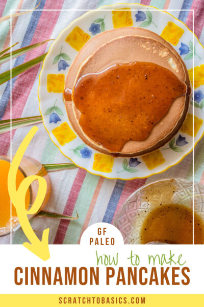 Paleo cinnamon pancakes - gf, and easy to make