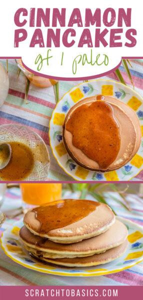 Paleo cinnamon pancakes