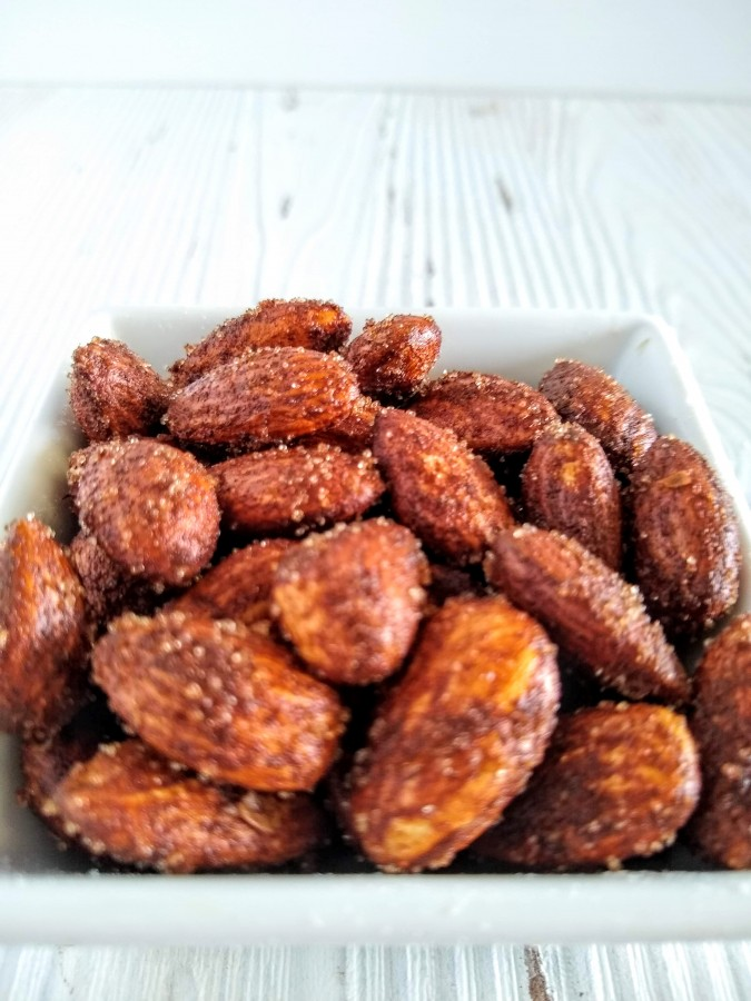 Cinnamon sugar nuts will make a great gift this holiday season