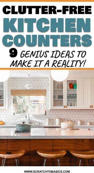 Declutter the kitchen counters