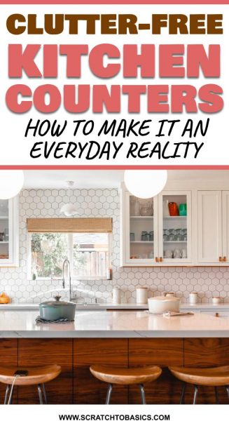 Declutter kitchen counters