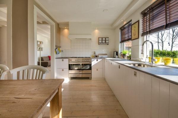 A clean, decluttered kitchen