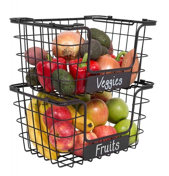 Declutter the produce from your counters and keep it organized in a basket.
