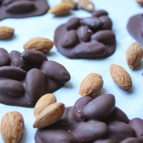 Dark Chocolate Covered Almond Clusters