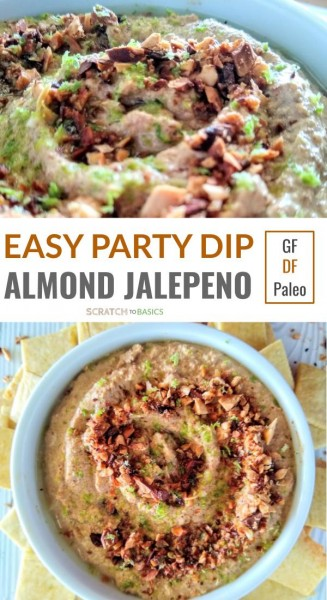 Easy party dip - almond jalepeno - gf df paleo