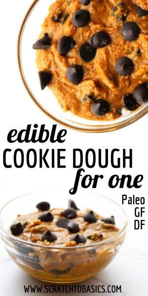 edible cookie dough for one - Paleo, GF and DF.