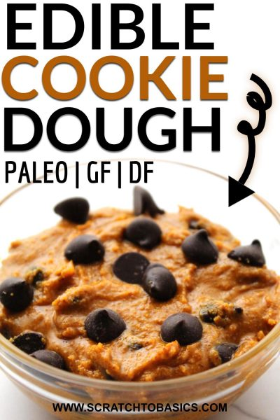Edible cookie dough sweetened with honey