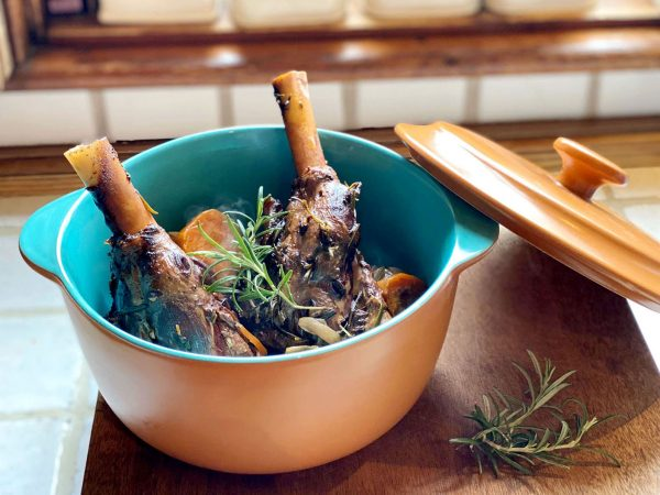 Slow cooked lamb shanks from Emma Eats