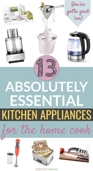Essential kitchen appliances for the home cook.