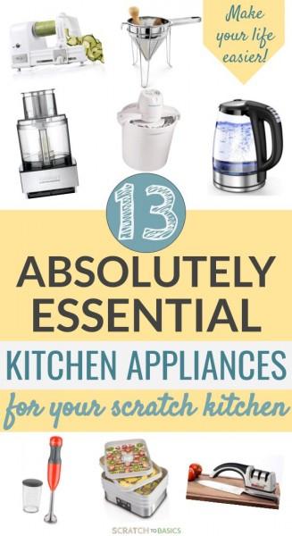 minimalist kitchen essentials, tools and appliances