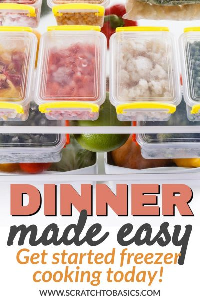dinner made easy - freezer cooking