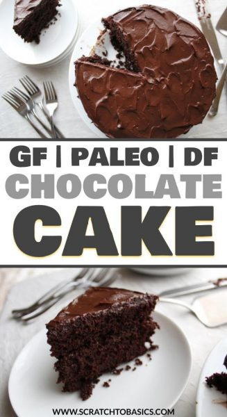 Paleo, gluten free, and dairy free chocolate cake