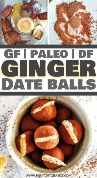 ginger date balls (no bake)