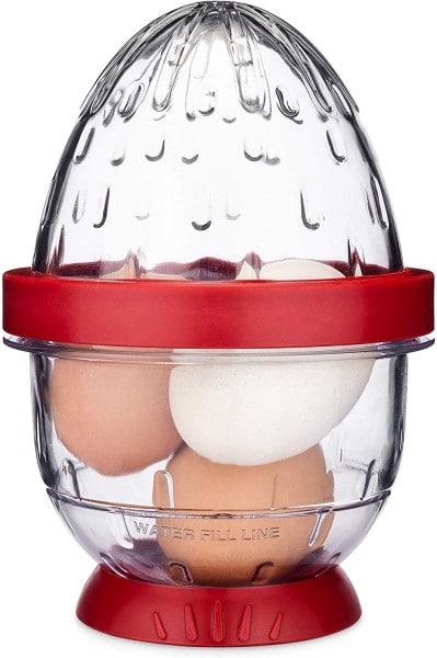 Hard boiled egg peeler.
