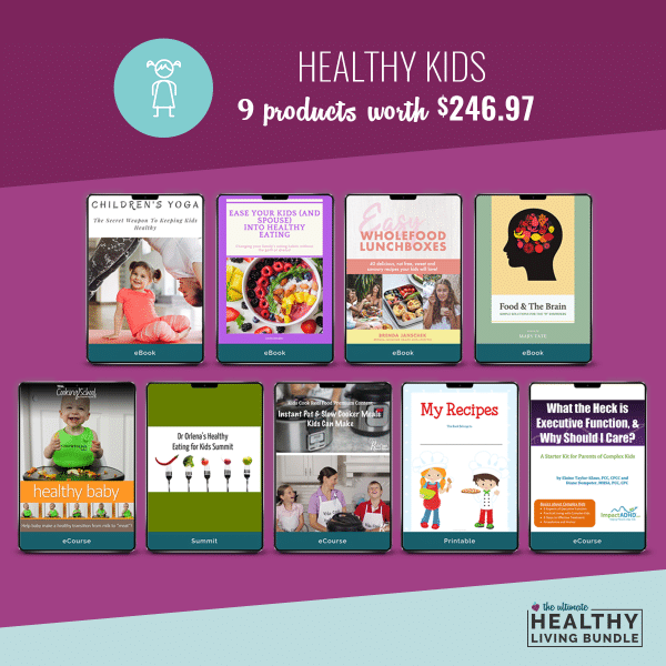 Healthy kids products in the bundle