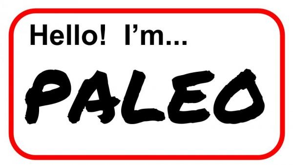 I'm Paleo nametag