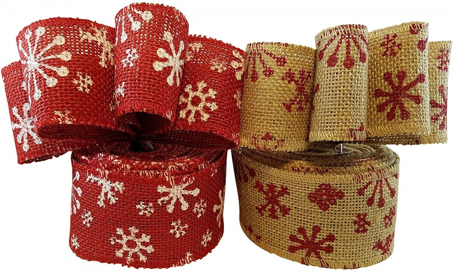 Holiday burlap ribbon