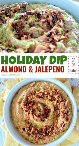 Holiday dip with almond & jalepeno
