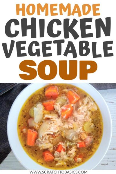 Homemade chicken vegetable soup