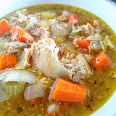 Quick & Easy Homemade Chicken Vegetable Soup [Healthy + Whole30]