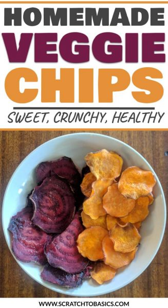 Homemade veggie chips - sweet, crunchy, healthy