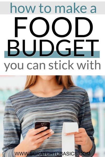 How to make a grocery budget you can stick with