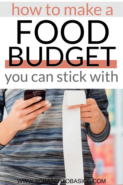 How to make a food budget