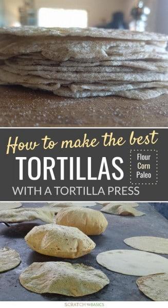 Homemade tortillas made easy with a tortilla press