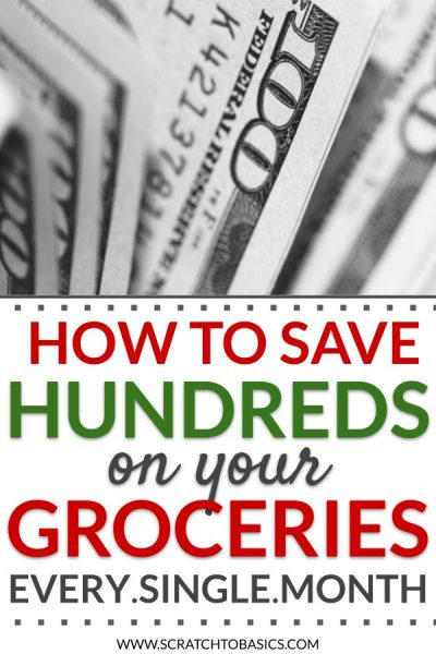 How to save hundreds on your groceries every single month.