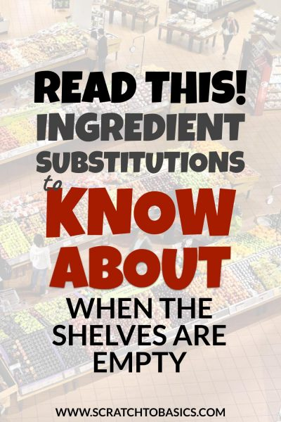 ingredient substitutions you need to know about