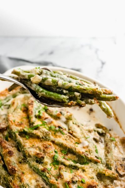 Keto Green Bean Casserole by Green And Keto