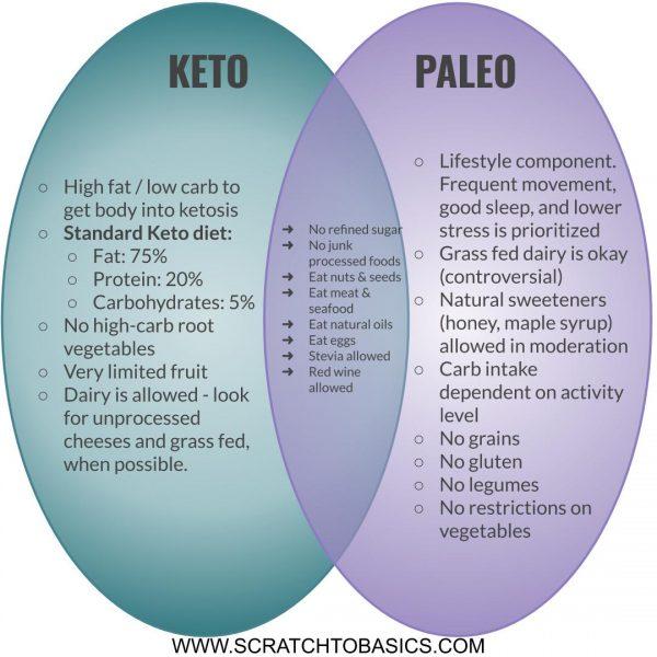 Paleo vs keto diet