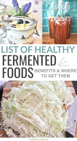 List of healthy fermented foods - benefits and where to get them.