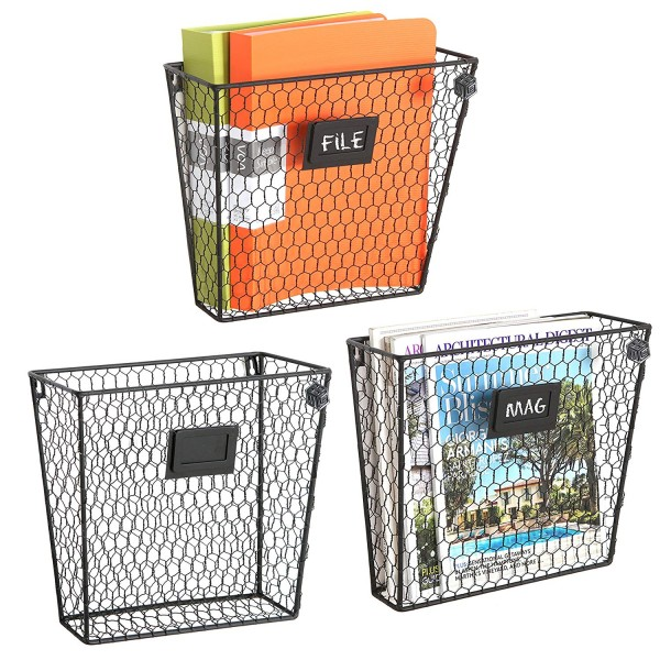 Use these baskets to store mail and other papers from your counters