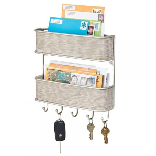 Use this mail and keys holder to declutter your kitchen counters