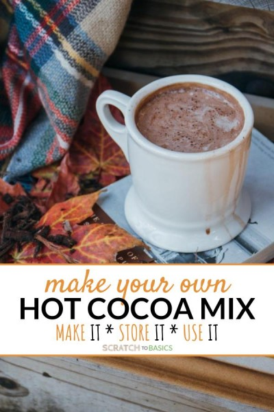 hot cocoa with winter blanket