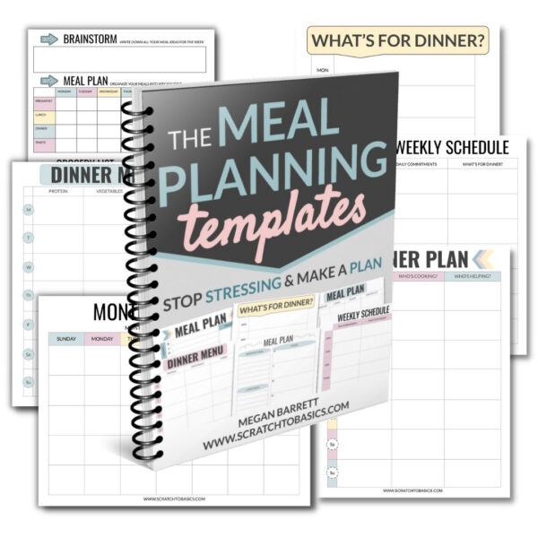 weekly and monthly meal planning templates