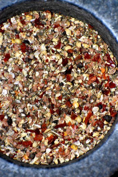 Seasoning in a bowl