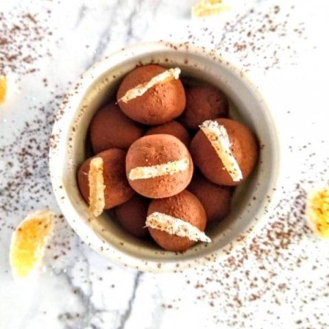 No Bake Chocolate Ginger Dessert Balls