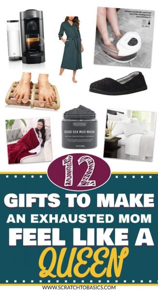 gifts to make exhausted mom feel like a queen
