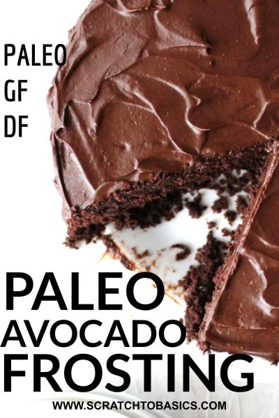 Paleo chocolate frosting with avocados