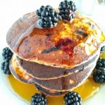 paleo pancake with almond flour and blackberries