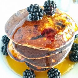 Blackberry Paleo Pancakes with Almond Flour {GF | DF}