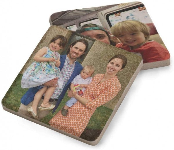 Photo stone coasters make a great gift for mom